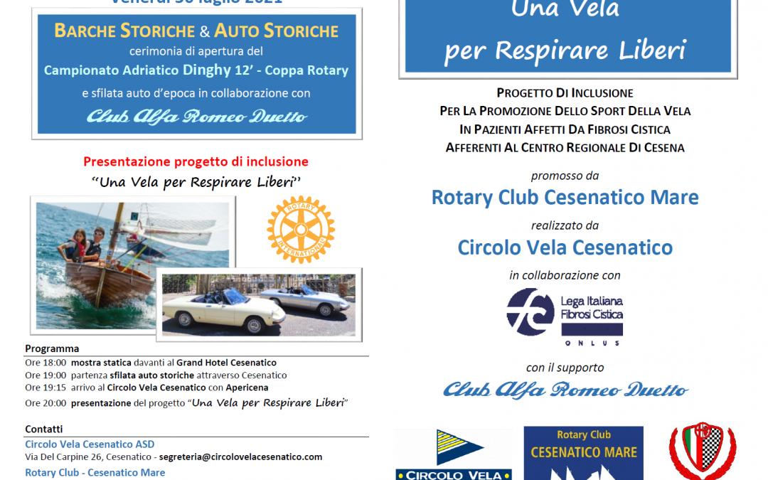 Apericena benefica Rotary/Alfa Club Duetto per la lotta alla fibrosi cistica
